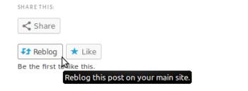rebloggen und liken von Posts